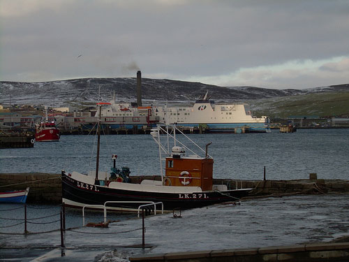 The ferry from Aberdeen to Shetland