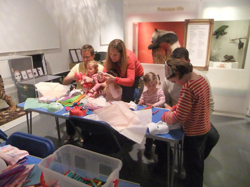 Making masks at the Animal Tales storytelling session