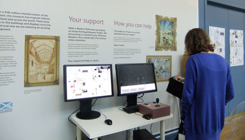Testing interactives in the Treasured gallery