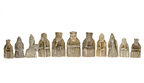 The Lewis chess pieces owned by National Museums Scotland