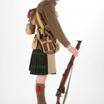 Soldier wearing kilt