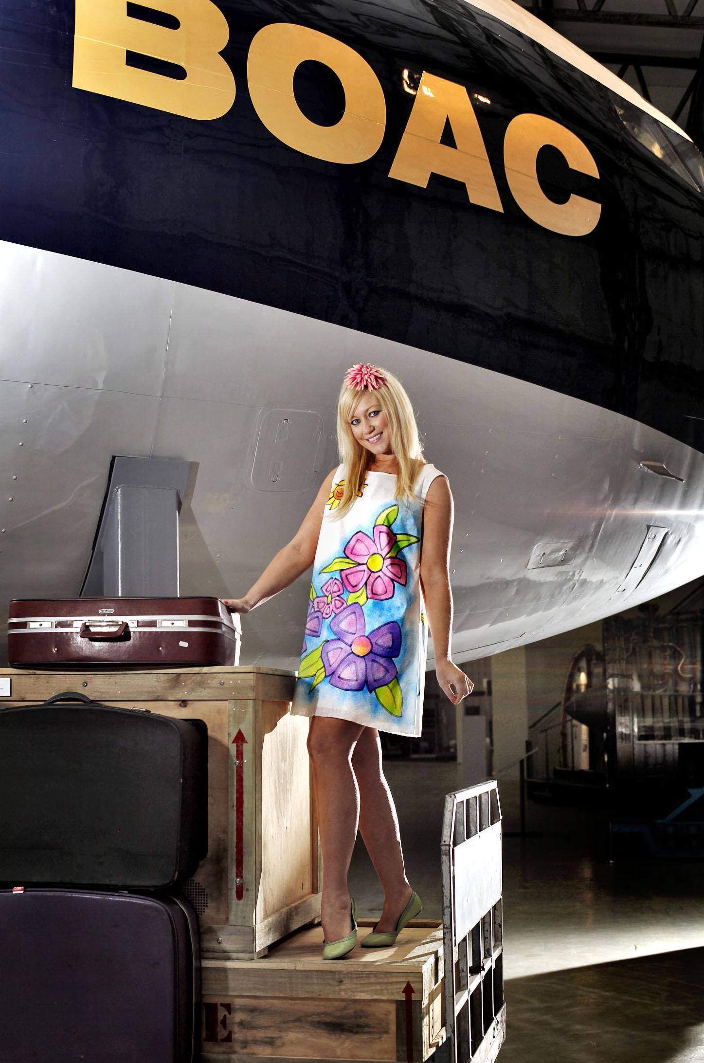 Boeing 707 air hostess © Paul Dodds