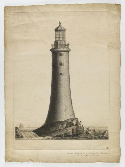 Engraving of John Smeaton's lighthouse at Eddystone