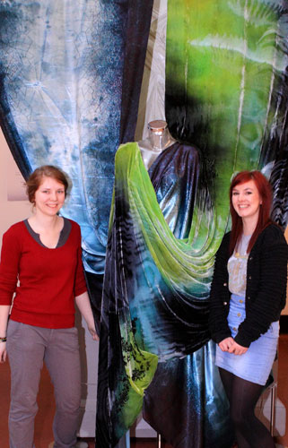 Liucija Dervinyte and Nicola Lynch with their designs