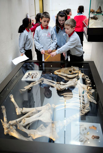 School pupils at the National Museum of Scotland