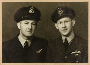 Harry Tait (right) in the RAF during the Second World War
