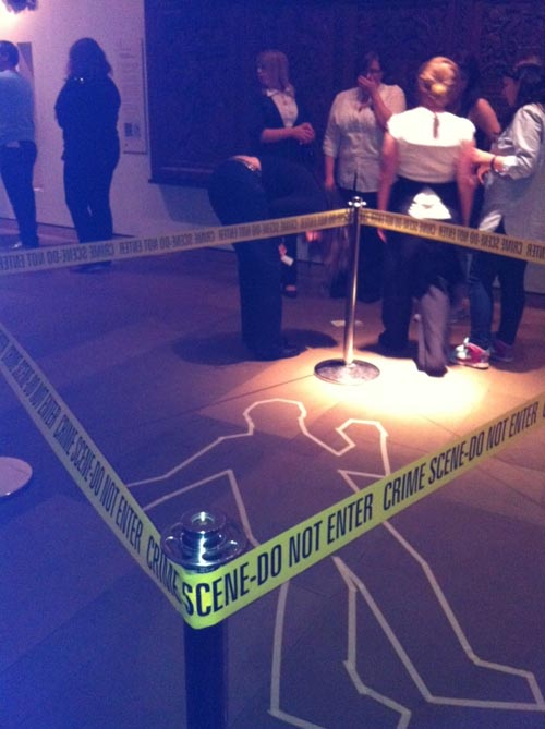 Scene of the crime at the Murder Mystery Evening at the National Museum of Scotland