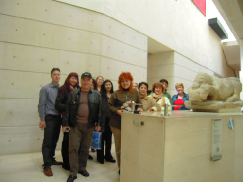 The Bulgarian contingent visiting the National Museum of Scotland