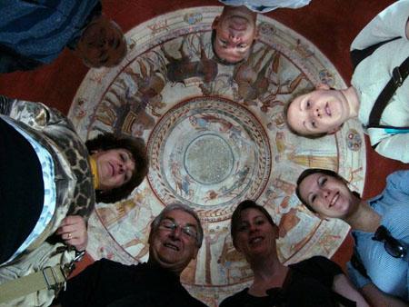Our group visits Kazanlak tomb