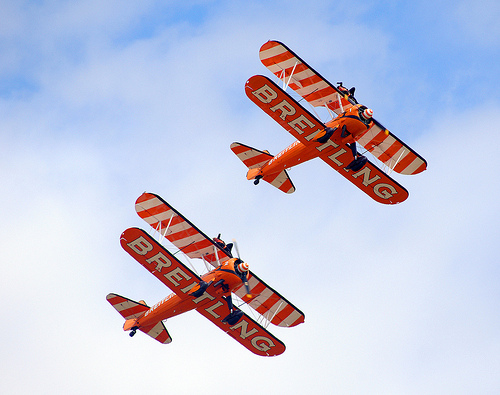 Breitling Wingwalker formation