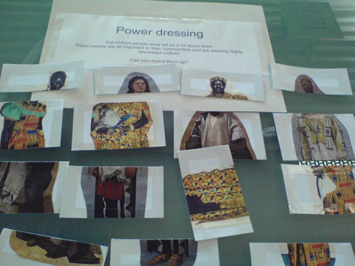 Paper prototype for Power Dressing