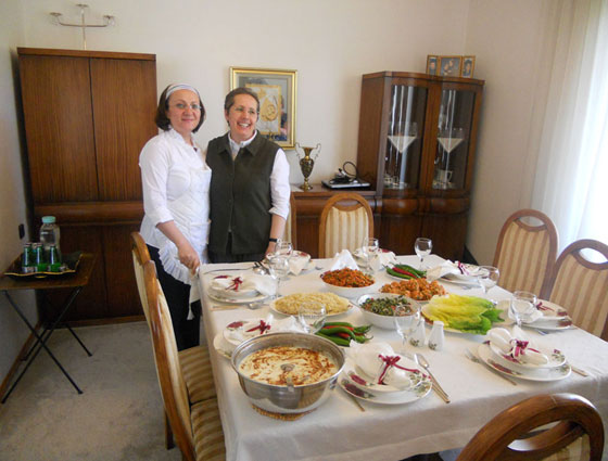 Traditional lunch with Mrs Belgin Yetkin