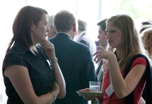 Megan (left) at the launch of the National Programme