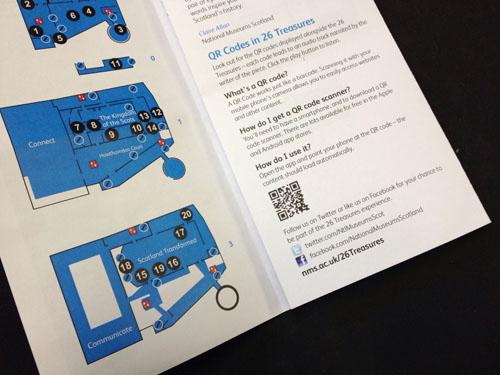 The 26 Treasures trail explains how QR codes work