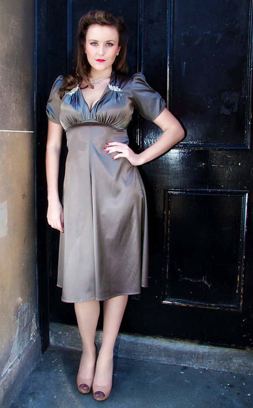 1940s vintage look by Miss Dixie Belle of Brunstfield