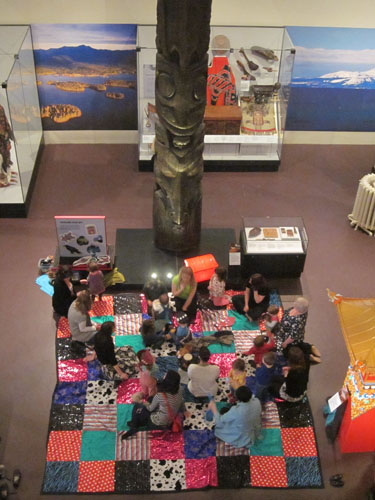 The magic carpet in the Living Lands gallery