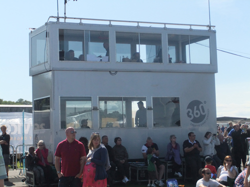 Flight Director's control tower at the Airshow at National Museum of Flight, East Fortune in 2011