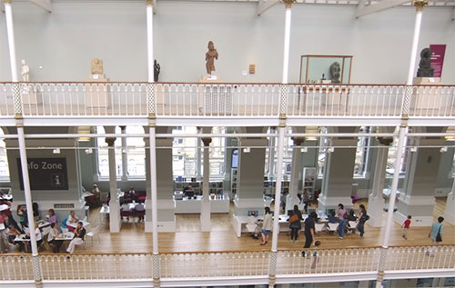 The Info Zone at National Museum of Scotland