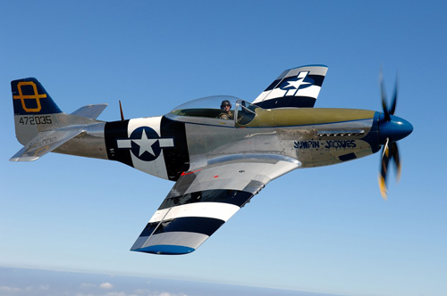 P51 D Mustang Jumpin Jacques will fly at the Airshow at National Museum of Flight, East Fortune on Saturday 28 July