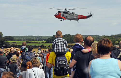 Sea King helicopter on approach at the Airshow at National Museum of Flight, East Fortune in 2011