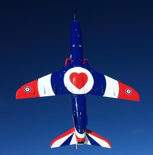 XX278 Hawk T1 vertical underside © MOD Crown Copyright