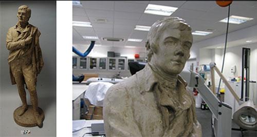 Plaster model of Robert Burns