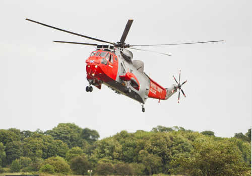 Sea King descending at the Airshow at National Museum of Flight, East Fortune on Sat 28 July 2012