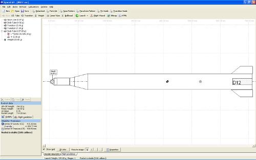 Designing the rocket using SpaceCad