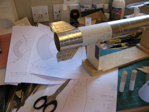 The tail section as a work in progress