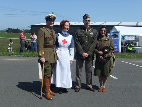 Miltary re-enactors at World Wars Experience, National Museum of Flight, East Fortune on Sunday 27 May 2012