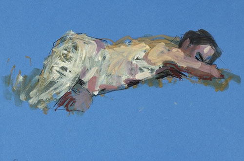 Oil and pastel on paper by Alan McGowan, 2011. Image © Alan McGowan