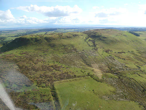 Burnswark from the air.