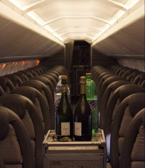 Serving champage aboard Concorde G-BOAA, National Museum of Flight, East Fortune © Jenni Sophia Fuchs