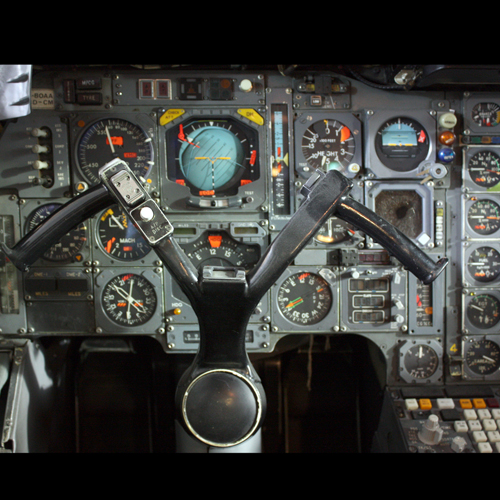 Concorde G-BOAA's flight controls, National Museum of Flight, East Fortune © Jenni Sophia Fuchs