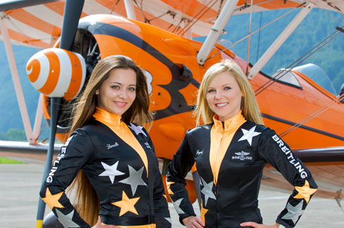 Freya Paterson and Danielle Hughes, Breitling WIngwalkers appearing at the Airshow, National Museum of Flight on Saturday 27 July 2013 © Richard Seymour