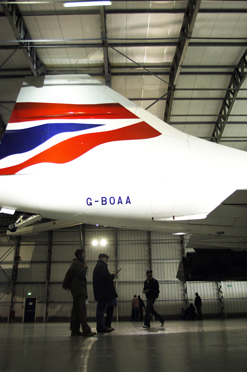Captain Tony Yule aboard Concorde G-BOAA at National Museum of Flight, East Fortune
