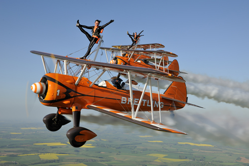 Breitling Wingwalkers appearing at the Airshow, National Museum of Flight on Saturday 27 July 2013 © Tokunaga