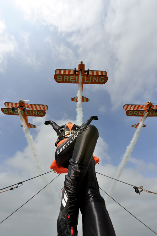 Display formation with the Breitling