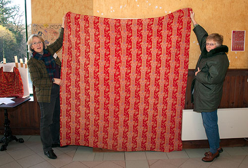 A quilt made of Turkey red fabric. Photo by Graeme Yule.