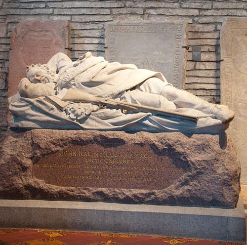 Memorial to John Rae in St Magnus Cathedral, Kirkwall