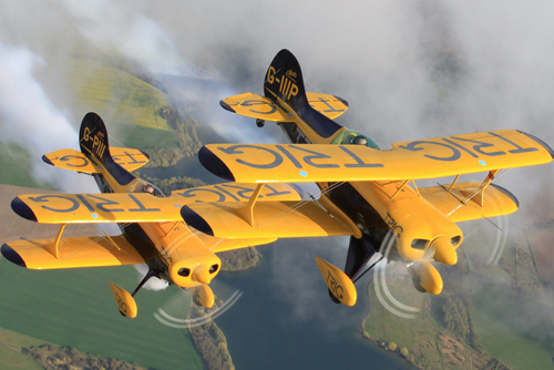 Trig Aerobatic Team will feature at the Airshow, National Museum of Flight, East Fortune on Saturday 27 July 2013.