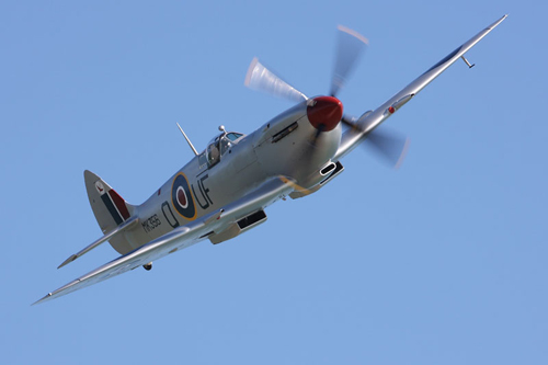 A Battle of Britain Memorial Flight Spitfire to fly at the Airshow, National Museum of Flight, East Fortune on Saturday 27 July 2013 © Crown copyright