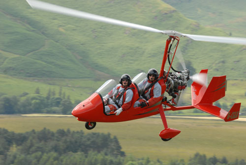 Two man gyrocopter, part of the air display for the Airshow on Sat 27 July National Museum of Flight, East Fortune