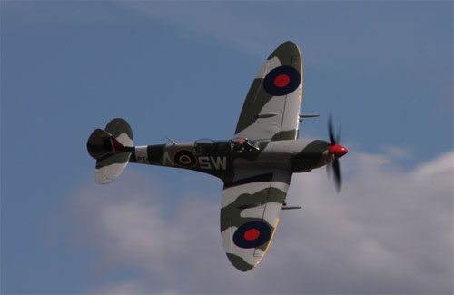 Twin cockpit Spitfire taken at Airshow, National Museum of Flight, July 2009 by Robert G Henderson