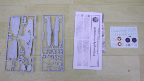 Contents of the Airfix Spitfire kit