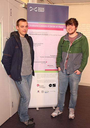 Scotland Creates volunteers Peter and Ruiridh