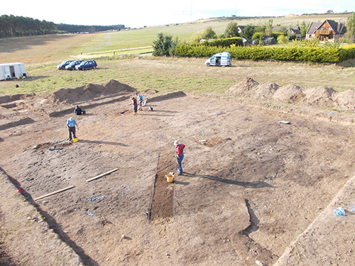 Remains of a massive Iron Age roundhouse