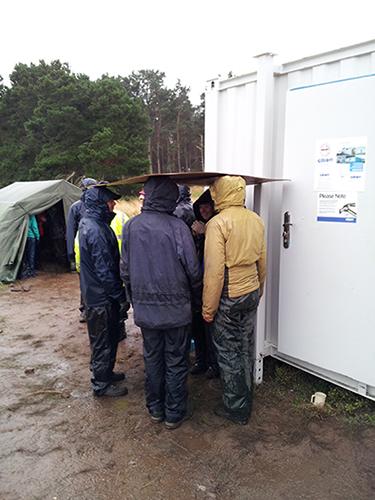 Advanced rain protection techniques.