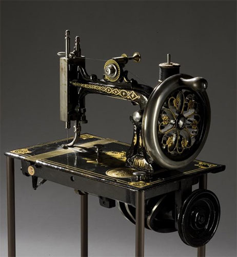 Early sewing machine c.1846-1872 made by Elias  Howe of the United States of America