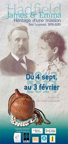 Poster advertising the Hadfield exhibition at the Museum of New Caledonia
